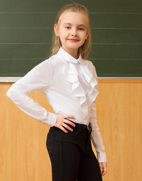Блузка Школьная Воротник Жабо