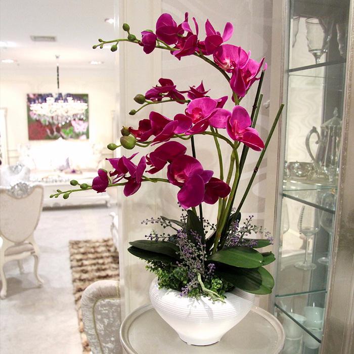 сделать искусственные цветы в горшках для домашнего интерьера неделю Речке