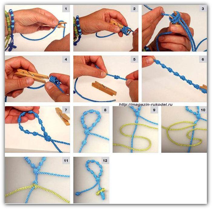 браслет из шнурка своими руками видео