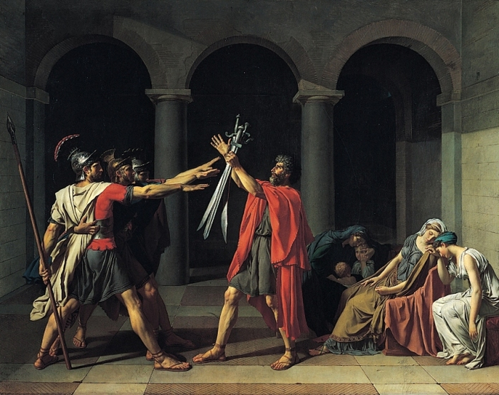 Jacques-Louis_David,_Le_Serment_des_Horaces (700x554, 272Kb)