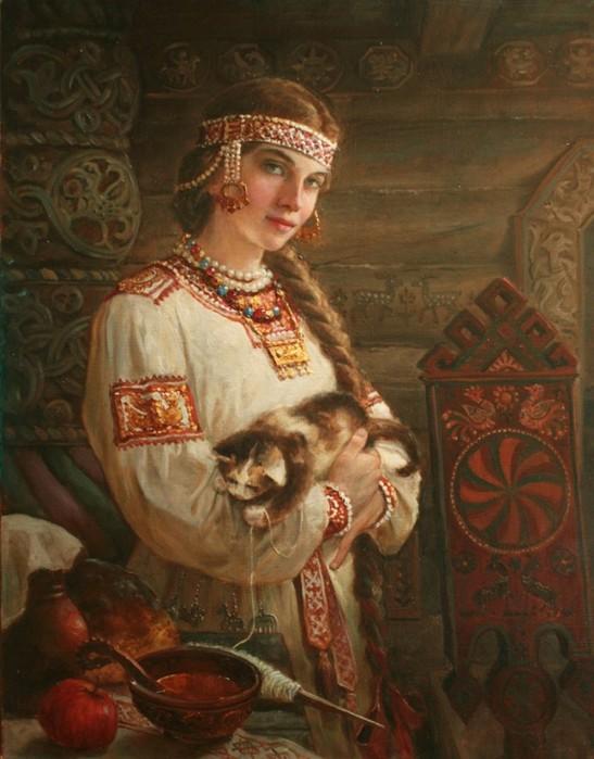 Художник самоучка Андрей Шишкин   портреты русских красавиц