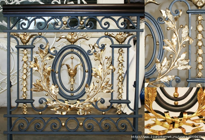 лестница в стиле барокко с покрытием под золото (700x481, 358Kb)