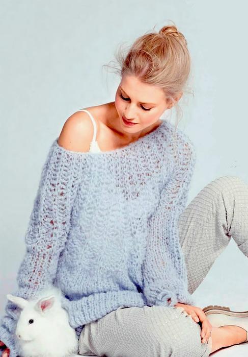 правильно вязать объемный свитер спицами белье для