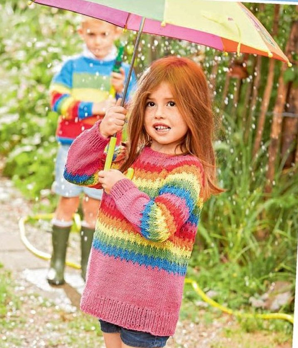 Пуловер Разноцветный