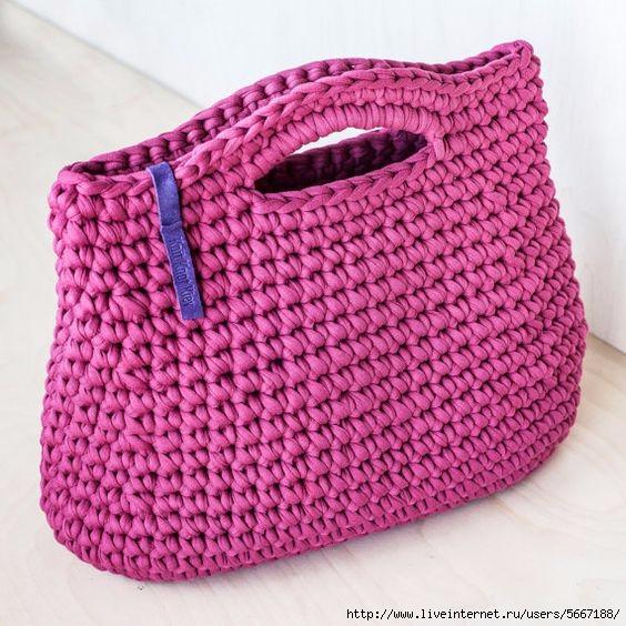 Вяжем сумки из трикотажной пряжи