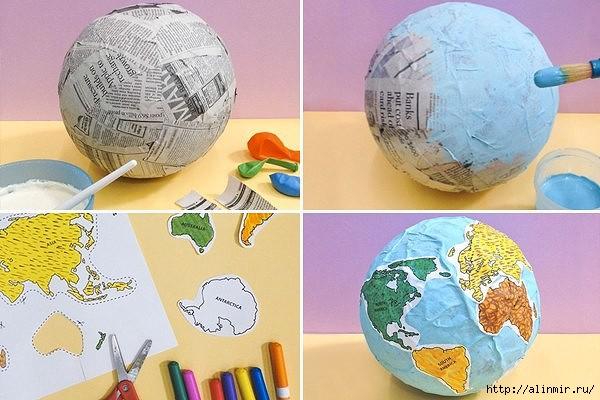 Как сделать землю из бумаги