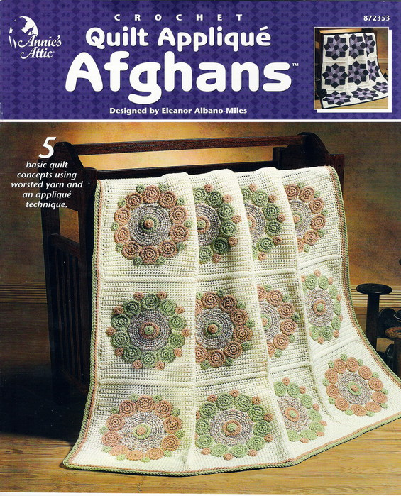 Quilt Applique Afghans fc (565x700, 186Kb)