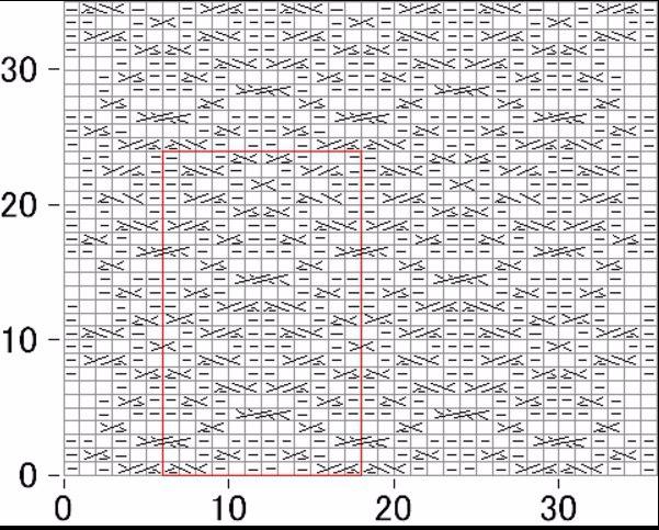 Plotnyj-uzor-dlya-detskih-veshhej-spitsami-Shema (601x483, 335Kb)