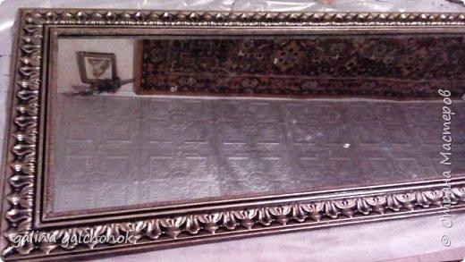 Как сделать рамку из потолочного плинтуса для зеркала
