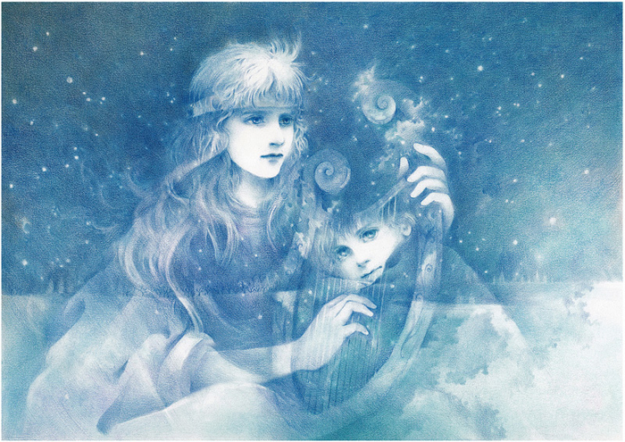 Японский художник Junko Kitano 1 (700x495, 527Kb)