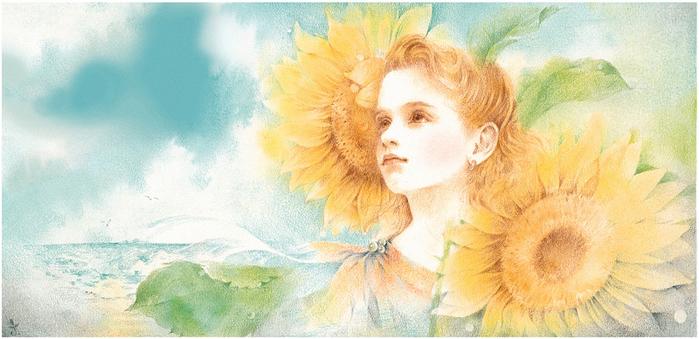 Японский художник Junko Kitano 31! (700x339, 334Kb)