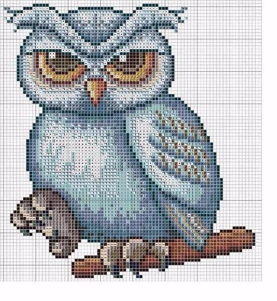 Вышивки совы (3) (553x600, 362Kb)