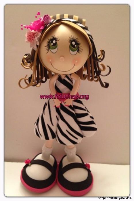 Кукла из фоамирана мастер класс с пошаговым шаблоны