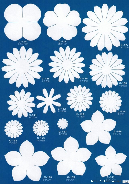 скачать шаблоны для цветов из фоамирана - фото 2
