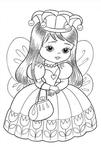 Превью раскраски для девочек 1 (409x604, 159Kb)