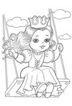 Превью раскраски для девочек 7 (409x604, 146Kb)