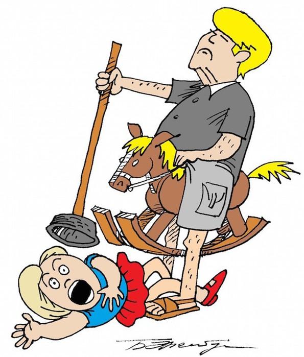 Весёлые карикатуры «Бесэдера?» про счастливое детство (фото)