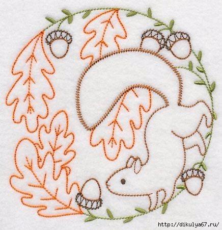 Вышивки гладью схемы животных 147