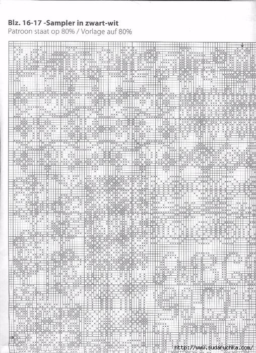 Черно-белые схемы подушек