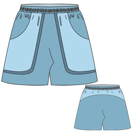 Как сшить спортивные шорты женские
