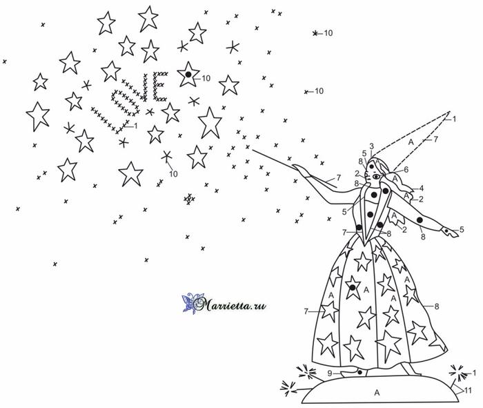 Ночная сказка - вышивка для детской подушки (2) (700x591, 152Kb)