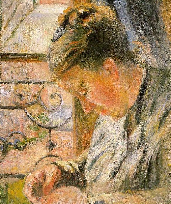 Портрет мадам Писсарро, сидящей около окна. 1878-79 (585x700, 614Kb)