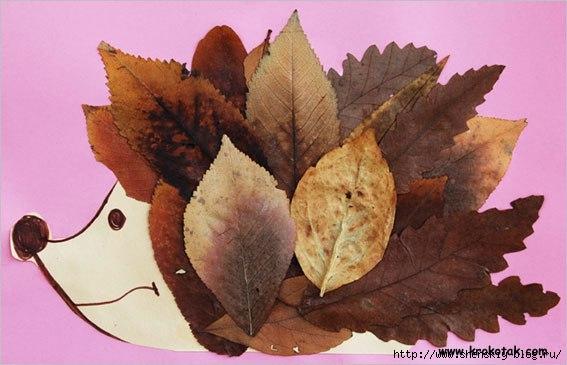 Животные из листьев деревьев мастер класс