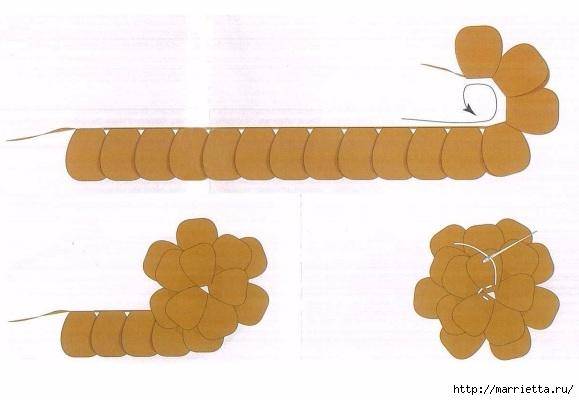 Цветочек - брошка крючком для украшения одежды (5) (579x400, 99Kb)