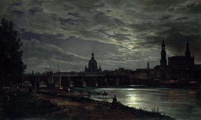 ��� �� ������� � ���������� (Blick auf Dresden bei Vollmondschein). (654x392, 223Kb)