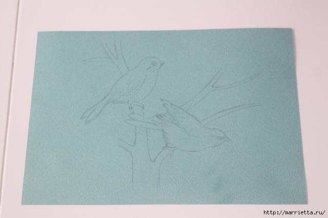 Панно с цветущим деревом и птицами в технике квиллинг (2) (640x426, 120Kb)