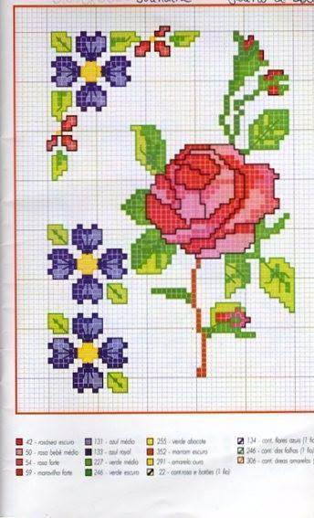 Вышиваем розы на скатерти и салфетках. Схемы (5) (344x567, 196Kb)