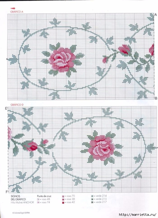 Вышиваем розы на скатерти и салфетках. Схемы (11) (509x700, 265Kb)