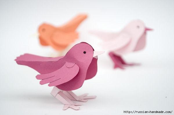 Птичка из бумаги. Шаблон (1) (600x399, 60Kb)