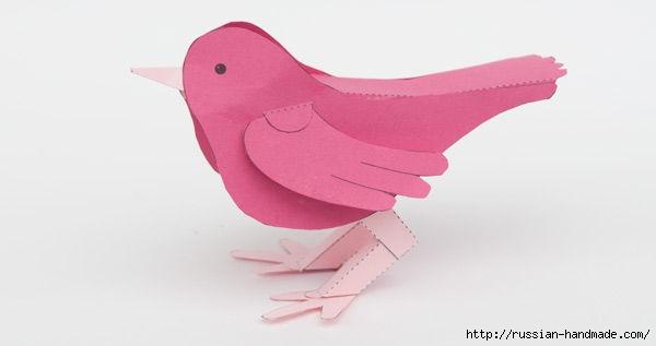 Птичка из бумаги. Шаблон (4) (600x317, 41Kb)