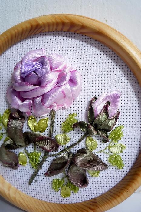 Роза. Вышивка лентами (1) (466x700, 426Kb)
