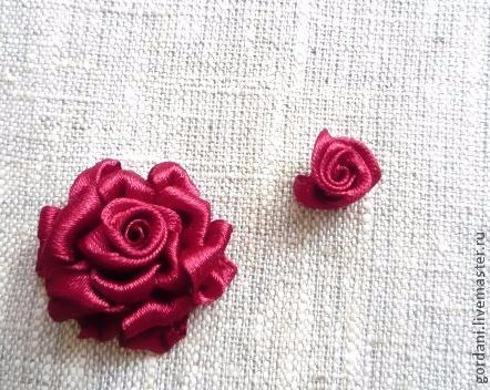 Роза. Вышивка лентами (18) (442x352, 184Kb)