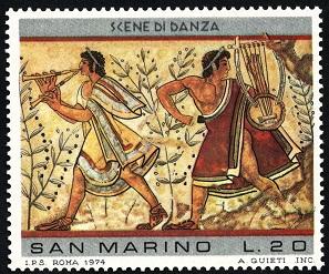 MiSM 1083 Paintings Etruskiers Римские музыканты (297x247, 58Kb)