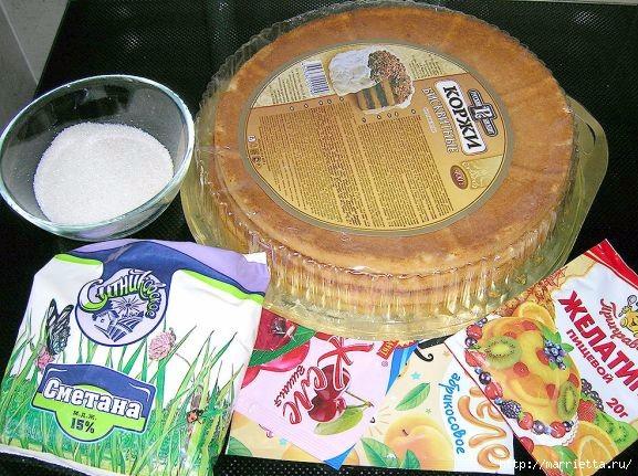 Фото рецепт торта Битое стекло (5) (577x431, 227Kb)