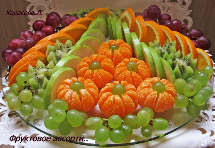 как подать красиво фрукты фото