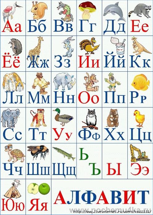 азбука для детей в картинках со стихами