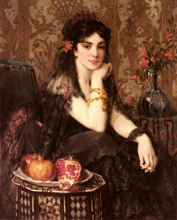 Женщины и цветы картины