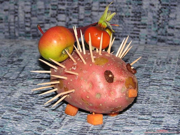 Детские поделки из овощей фото