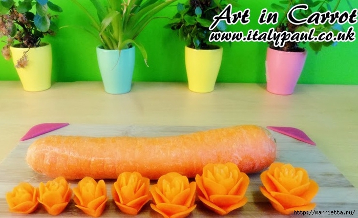 Карвинг. РОЗЫ из свеклы и морковки (2) (700x426, 214Kb)
