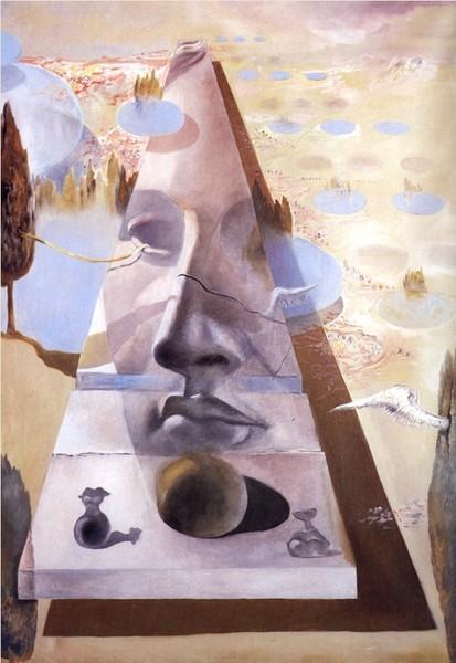 Явление лица Афродиты Книдской на фоне пейзажа (1981 (413x600, 208Kb)