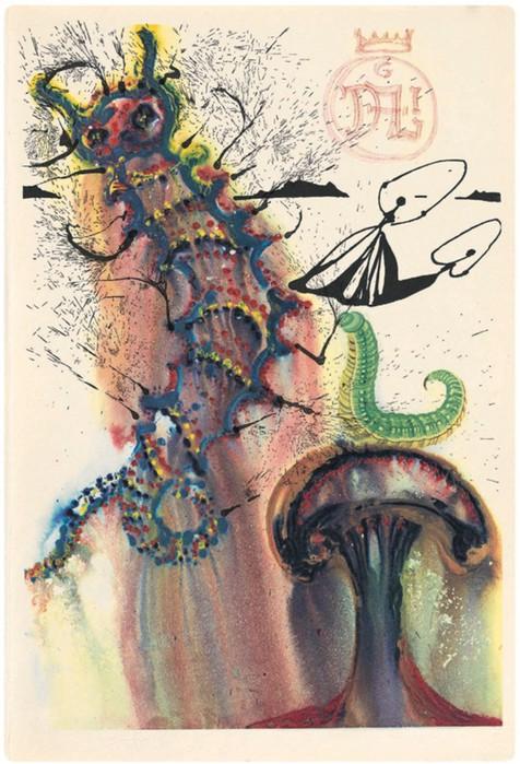 Неизвестные иллюстрации Сальвадора Дали к «Приключениям Алисы в Стране чудес»