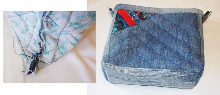 Сумка из лоскутков джинса своими руками