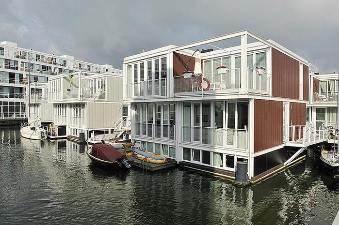 плавающие дома амстердам 1 (700x465, 424Kb)