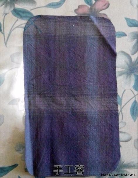 Лоскутная сумочка с птичкой и лавандой. Шьем сами (4) (471x605, 169Kb)