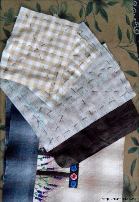 Лоскутная сумочка с птичкой и лавандой. Шьем сами (8) (469x681, 209Kb)