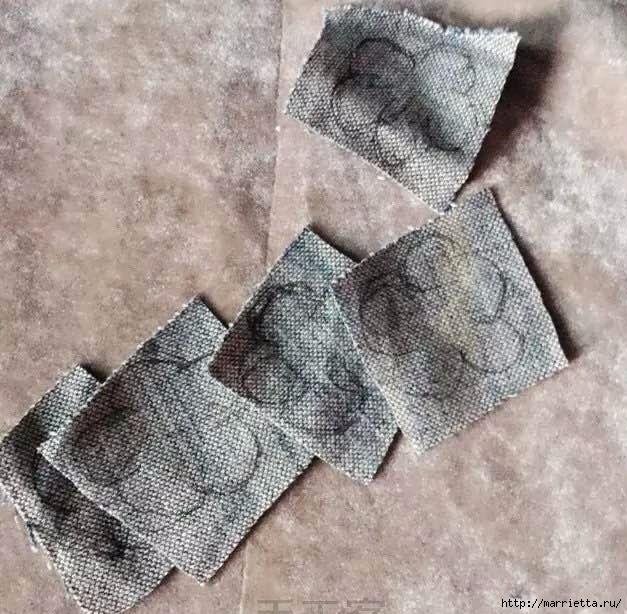 Букет цветов из джинсовой ткани (2) (627x614, 225Kb)